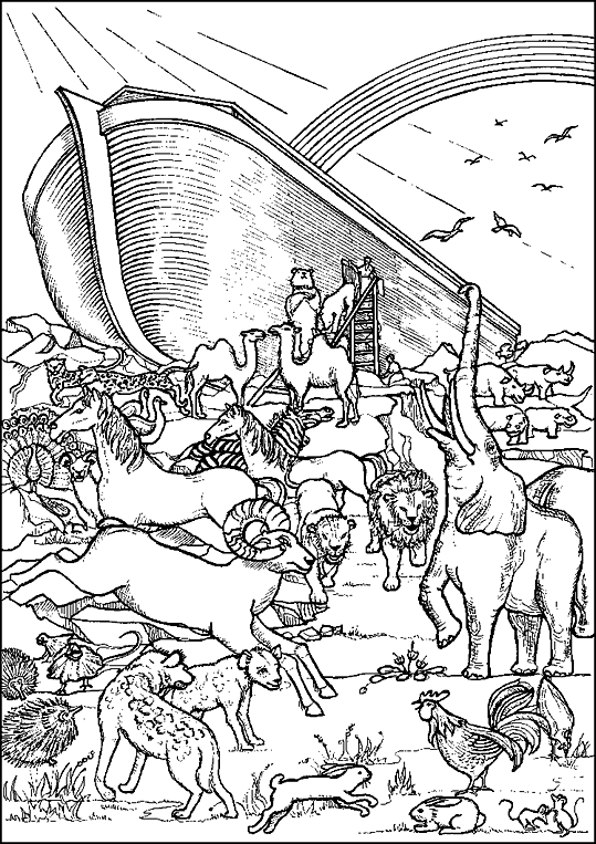 noah's ark printable coloring pages - animal coloring pages for noahs ark