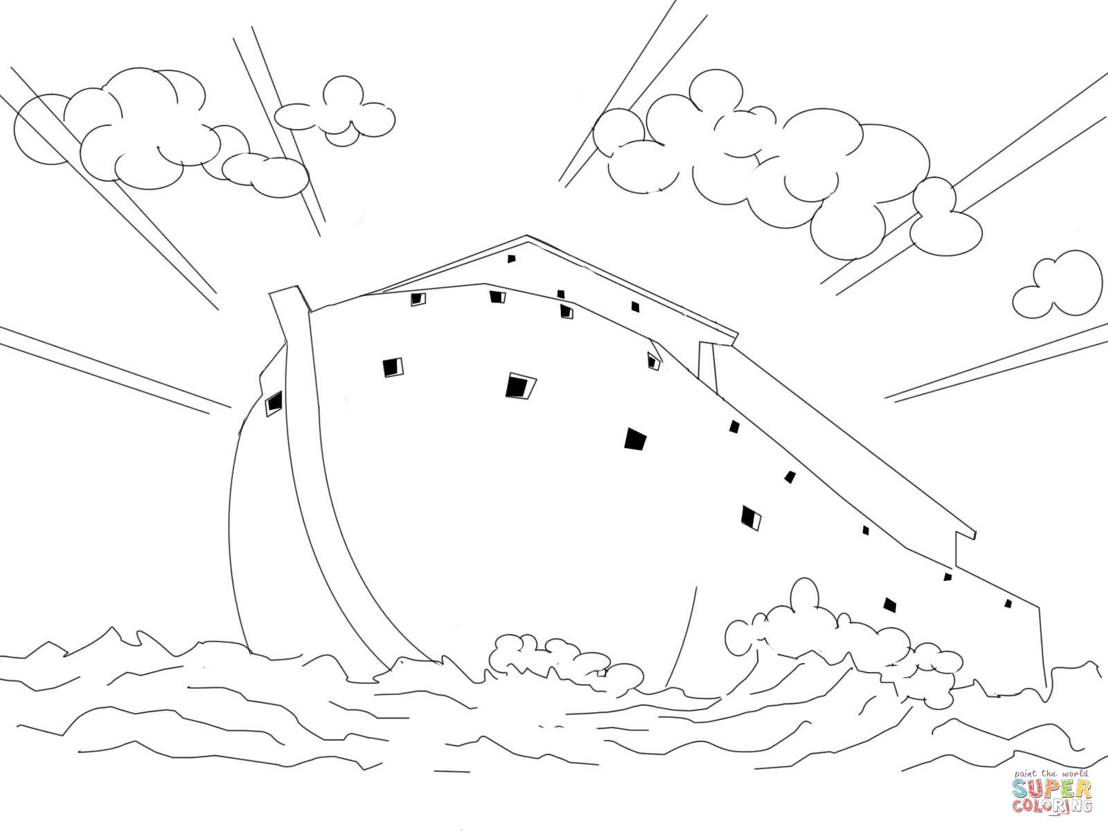 noah's ark printable coloring pages - ark coloring