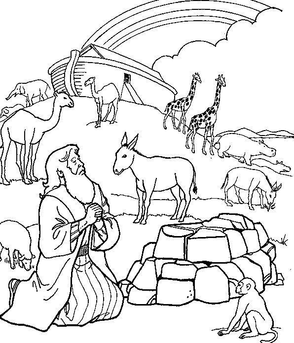 noah's ark printable coloring pages - coloring pages of mountain animals