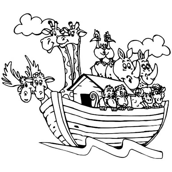 Noah's Ark Printable Coloring Pages - Coloring Pages Of Noah S Ark Coloring Pages for Free