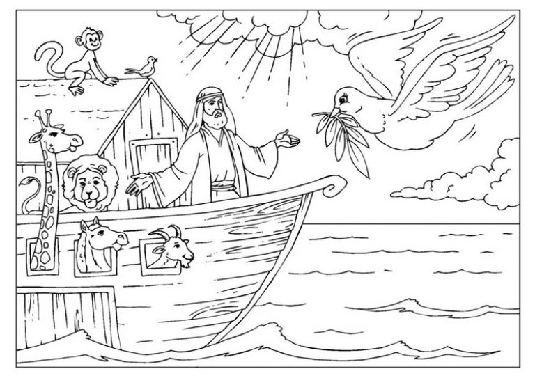 noah's ark printable coloring pages - pretty coloring noah ark coloring page for free noahs ark coloring pages printable image about