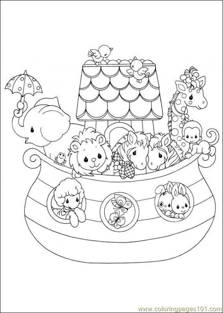 noah's ark printable coloring pages - noahs ark coloring page