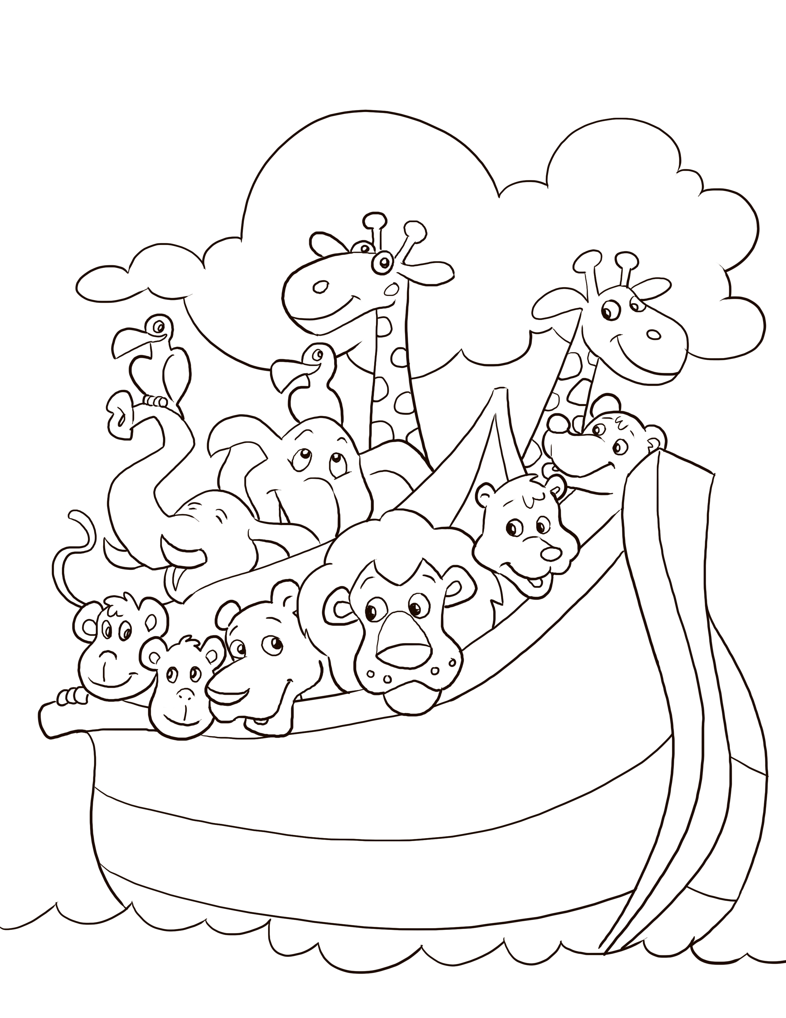 27 Noahs Ark Printable Coloring Pages Printable FREE COLORING