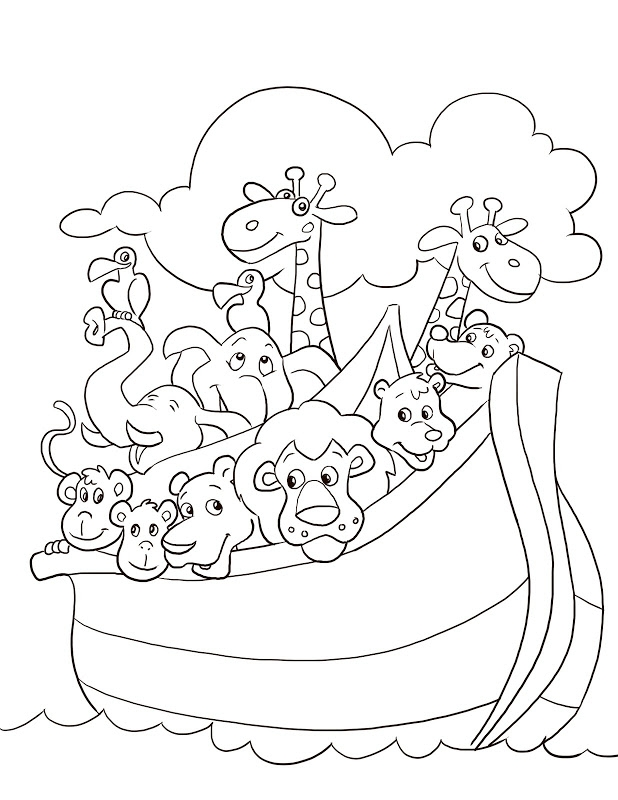 noahs ark coloring page - animal coloring pages noahs ark sketch templates