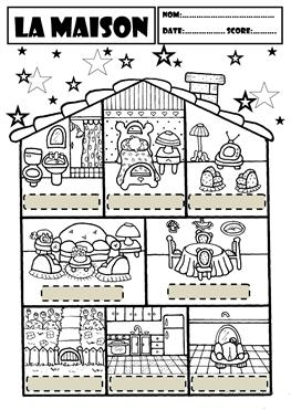 nom noms coloring pages - search result Vocabulary Focus=Maison