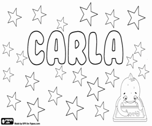 nom noms coloring pages - coloriages prénoms de fille avec c a colorier 2