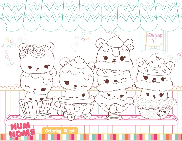 Num Noms Coloring Pages - Free Num Noms Coloring Pages & Activities for Kids