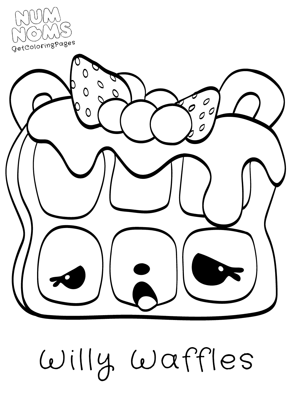 24 Num Noms Coloring Pages Selection Free Coloring Pages