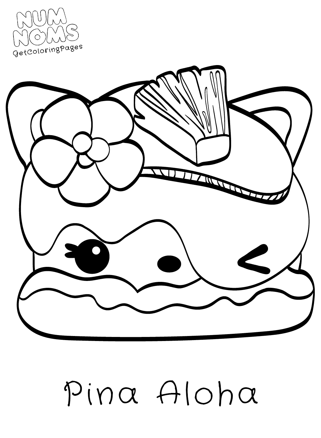 num noms coloring pages - how to draw billy banana from num noms coloring page num noms