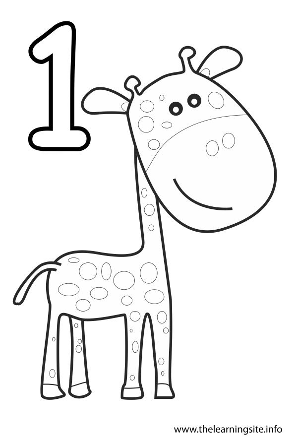 Number 1 Coloring Page - Number 1 Outline Coloring Pages