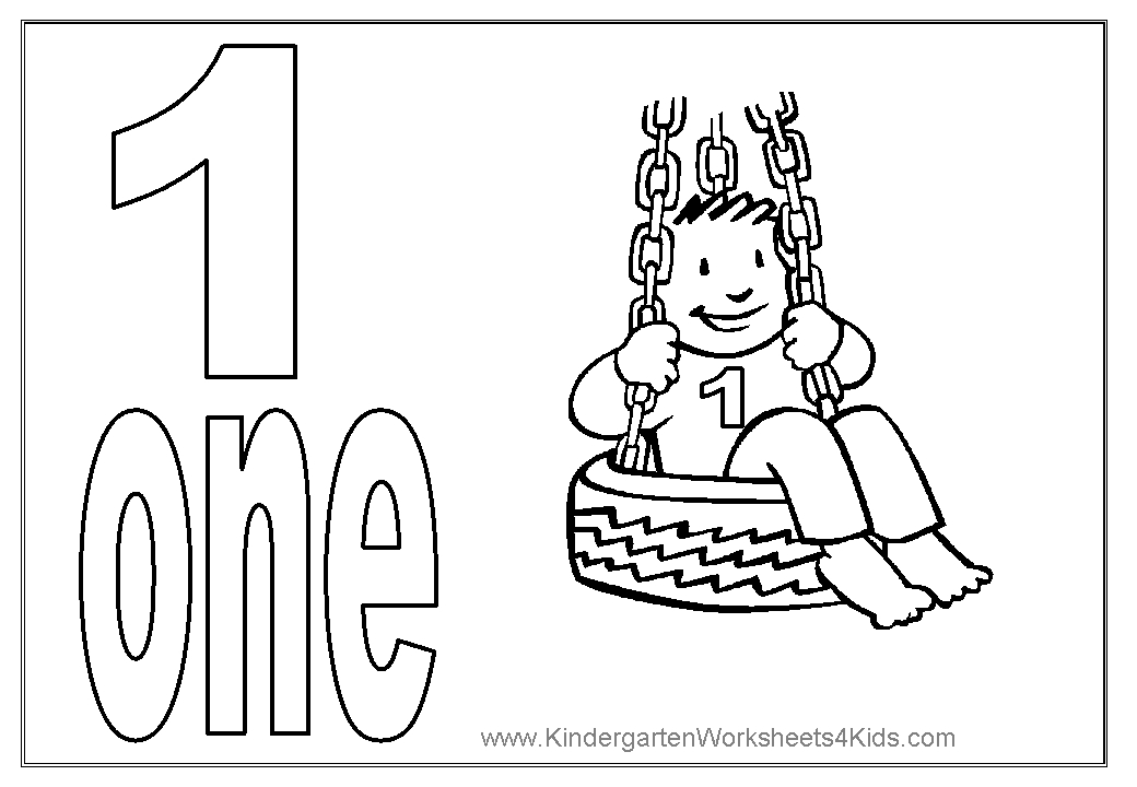 number 1 coloring page - number coloring pages 1 10