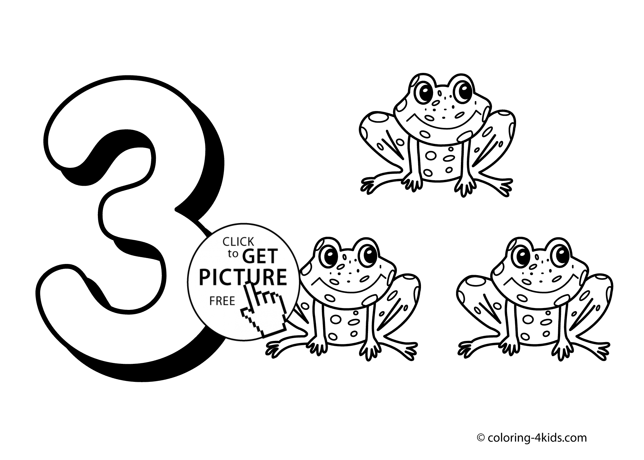 Number 3 Coloring Page - 3 Numbers Coloring Pages for Kids Printable Free Digits