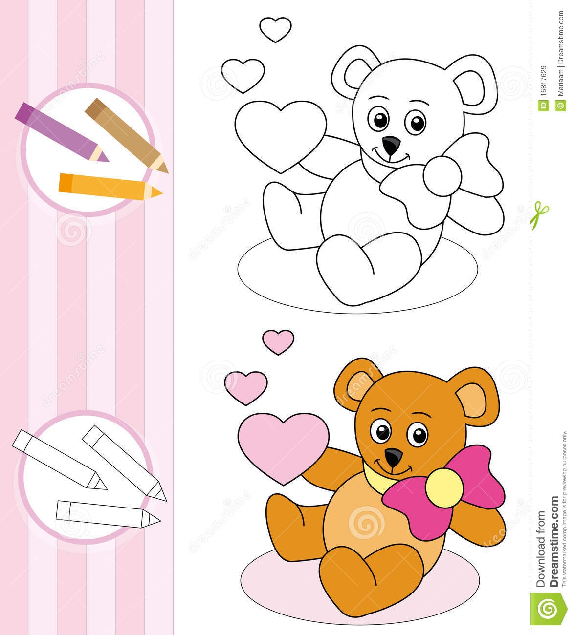 number 4 coloring page - royalty free stock images coloring book sketch teddy bear image