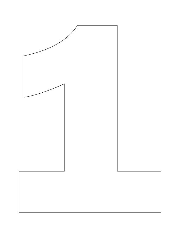 number 4 coloring page - coloring pages numbers 1 one