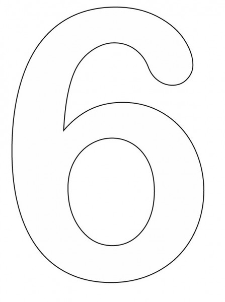 number 6 coloring page - q=the number 6