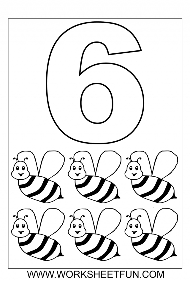 number 6 coloring page - number 6 coloring pages