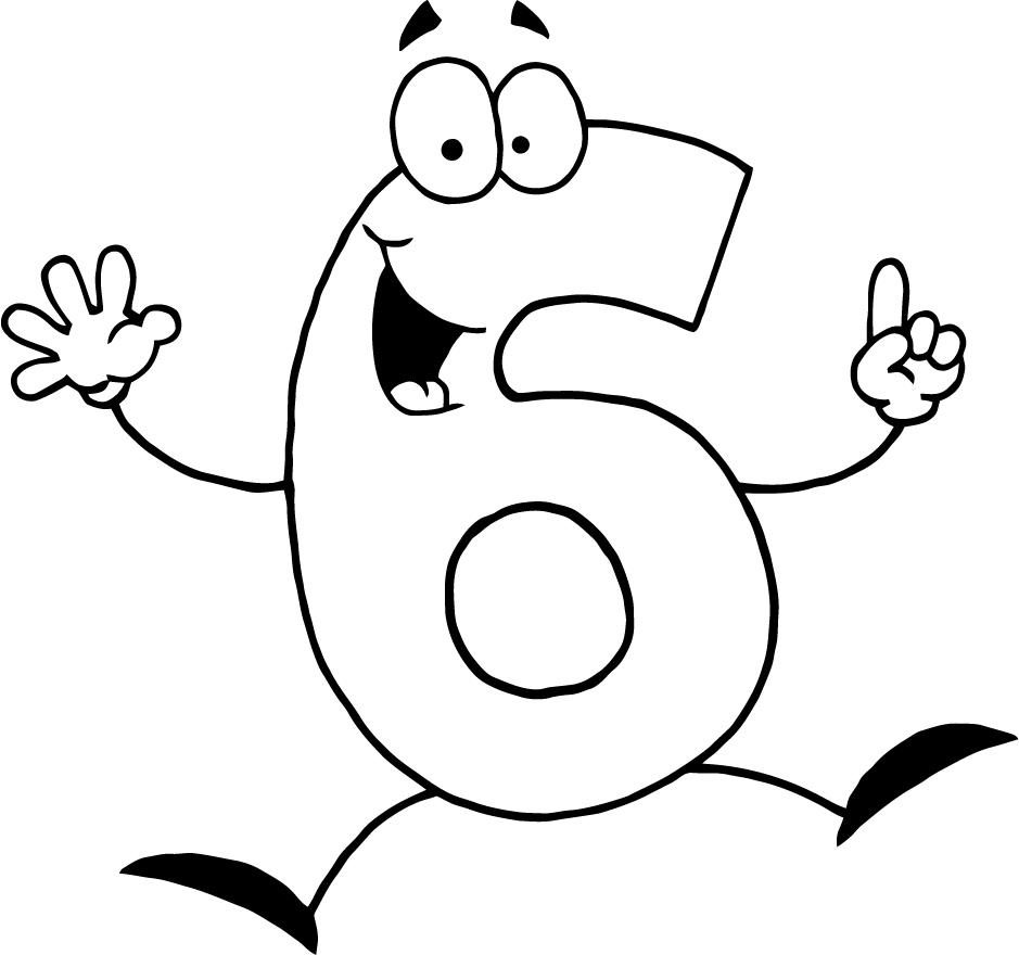 number 6 coloring page - number 6 coloring pages for preschoolers