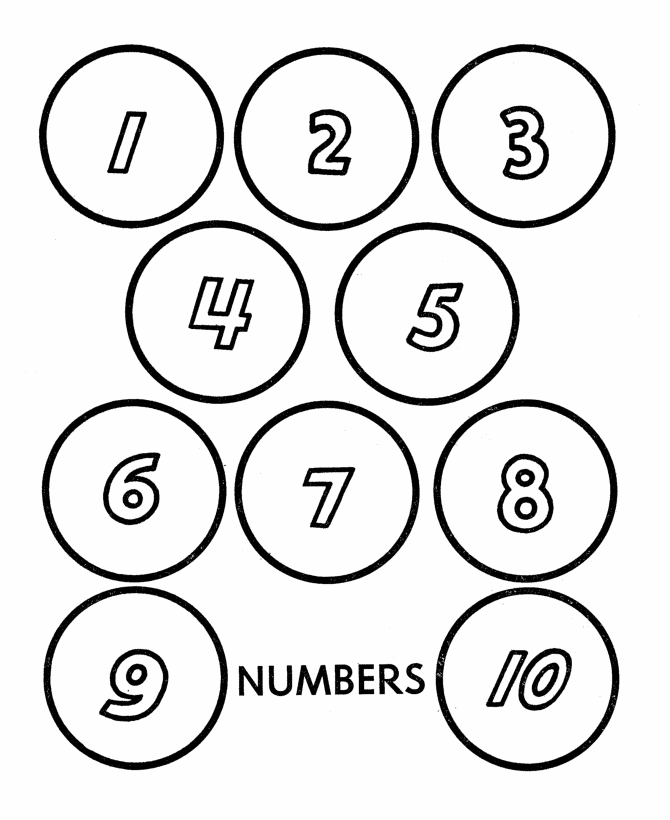 number coloring pages 1 10 - coloring pages numbers 1 10