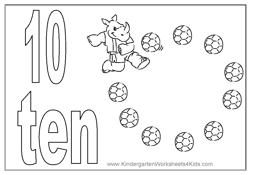 number coloring pages 1 10 - number coloring pages 1 10