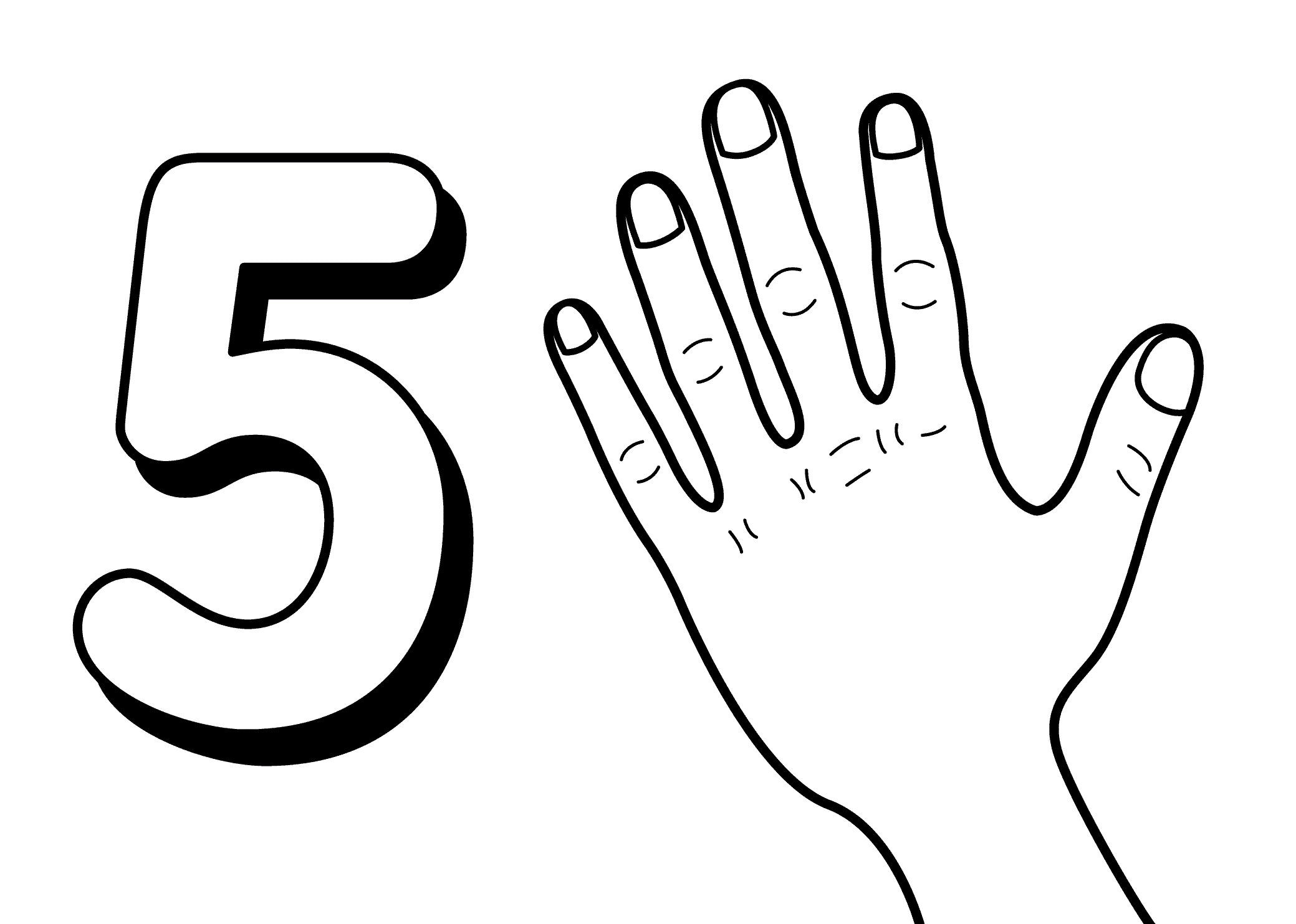 Number Coloring Pages - Number Coloring Pages Coloringsuite