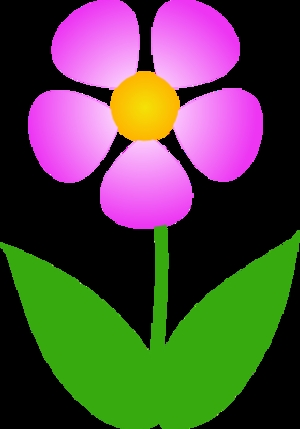 number coloring pages - simple flower clip art