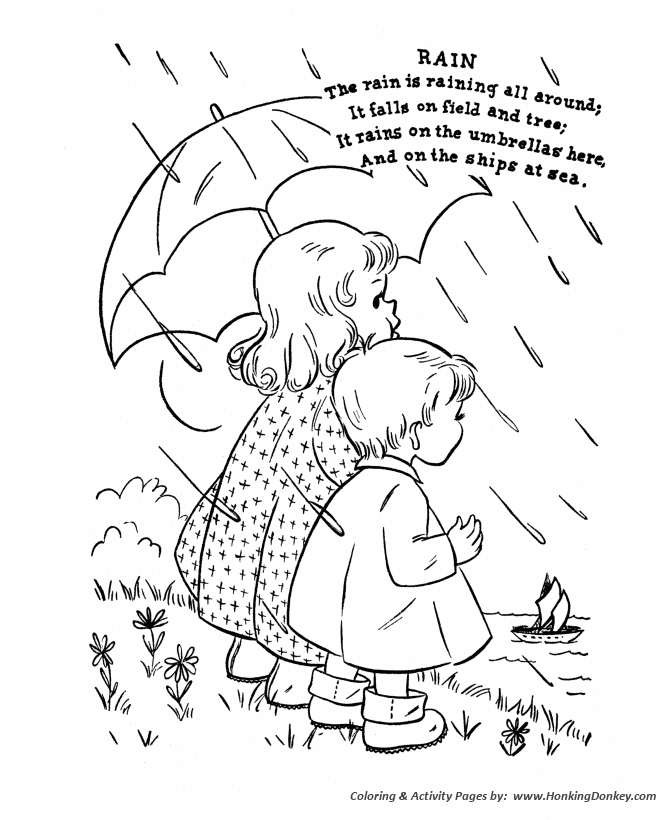 nursery rhyme coloring pages - nursery rhymes 01 06