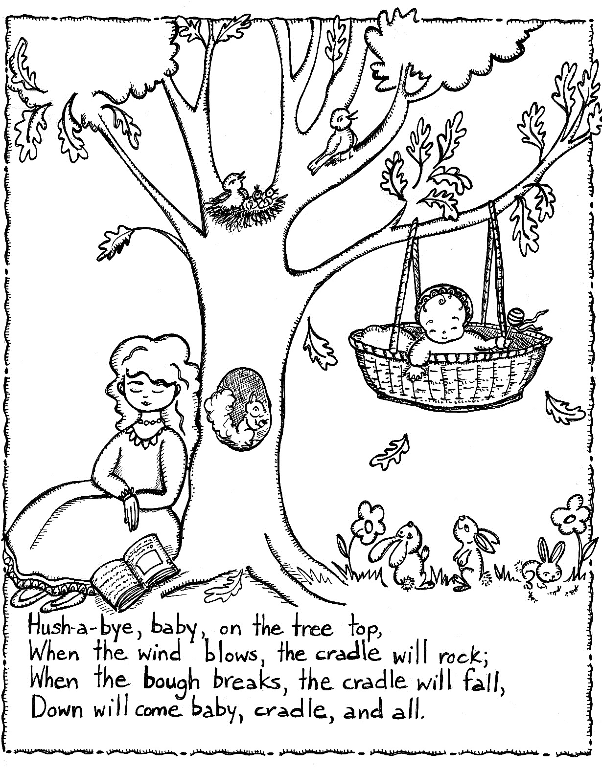 nursery rhyme coloring pages - nursery rhymes coloring pages