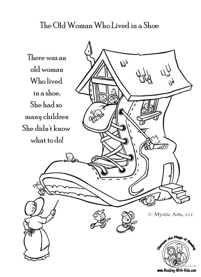 nursery rhyme coloring pages - nursery rhyme color pages