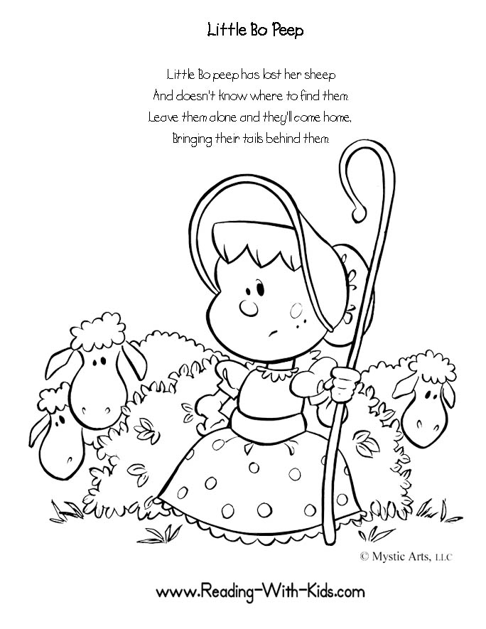 nursery rhyme coloring pages - Nursery Rhyme