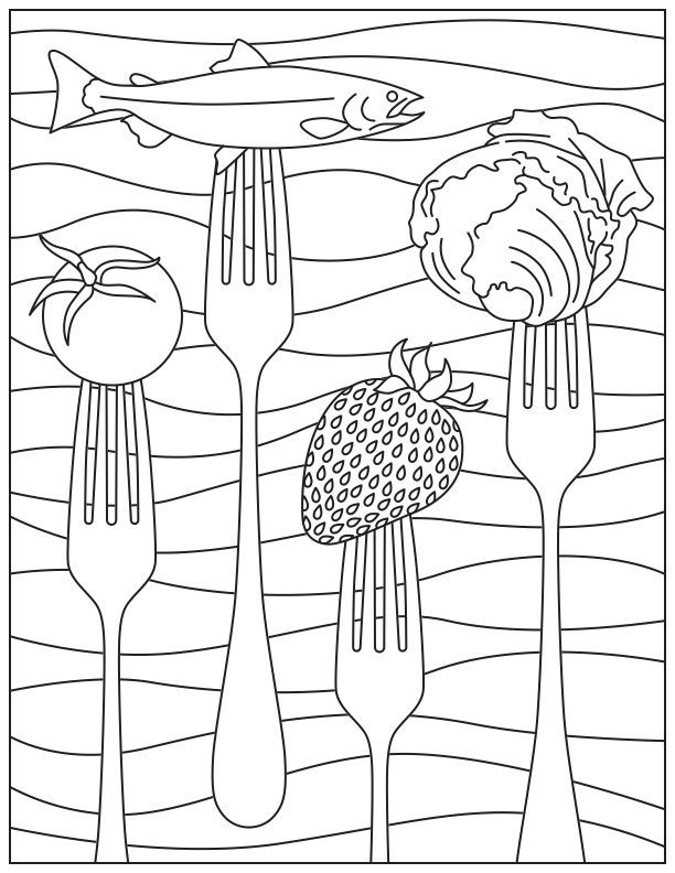 24 Nutrition Coloring Pages Printable | FREE COLORING PAGES ...