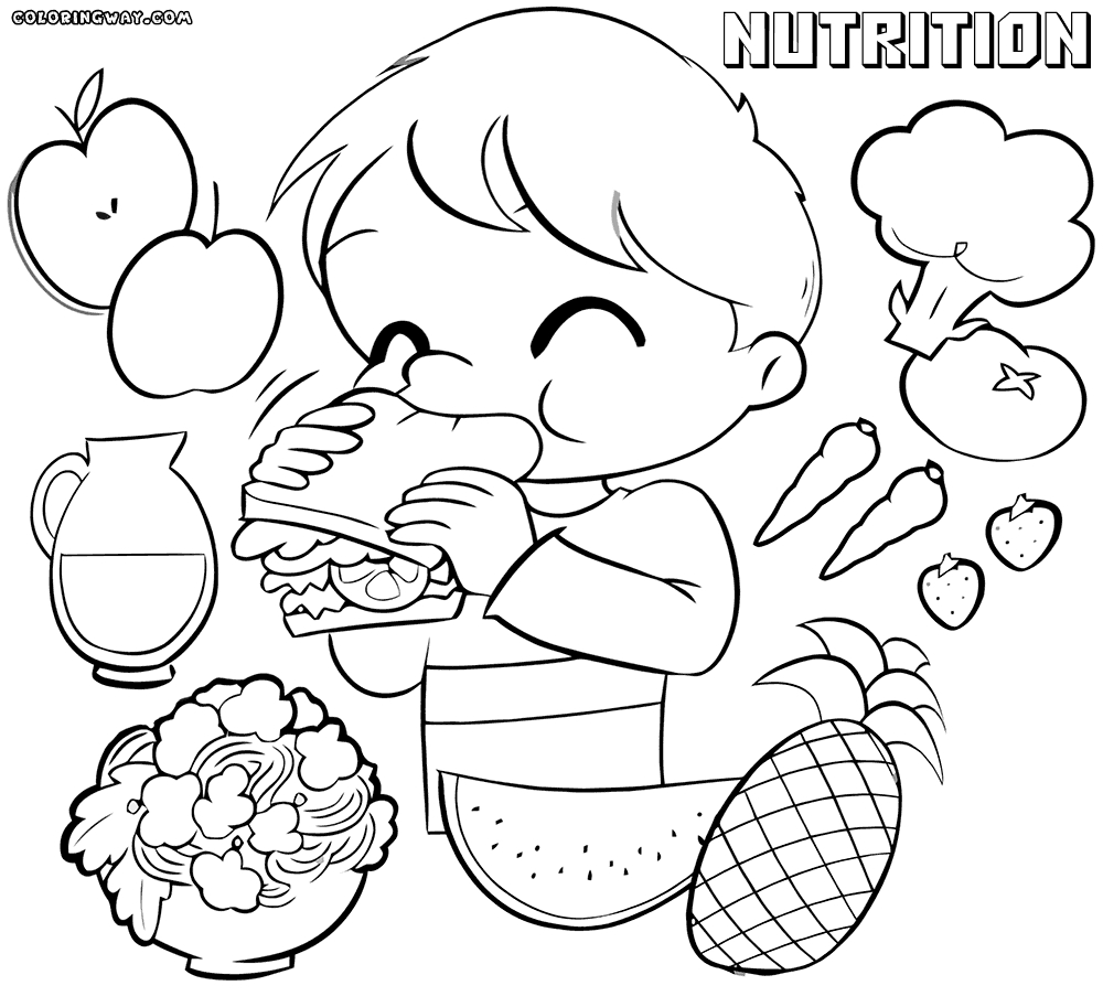 nutrition coloring pages - the most awesome nutrition coloring pages pertaining to encourage in coloring image