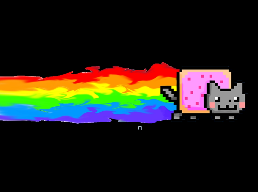 nyan cat coloring pages - Nyan Cat Flaming Rainbow