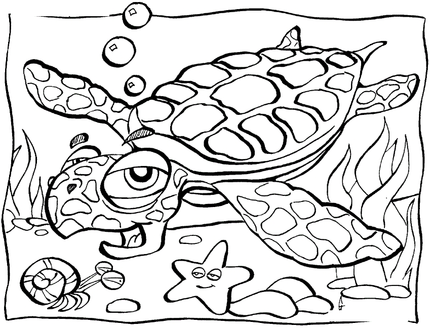 ocean animals coloring pages - ocean coloring pages