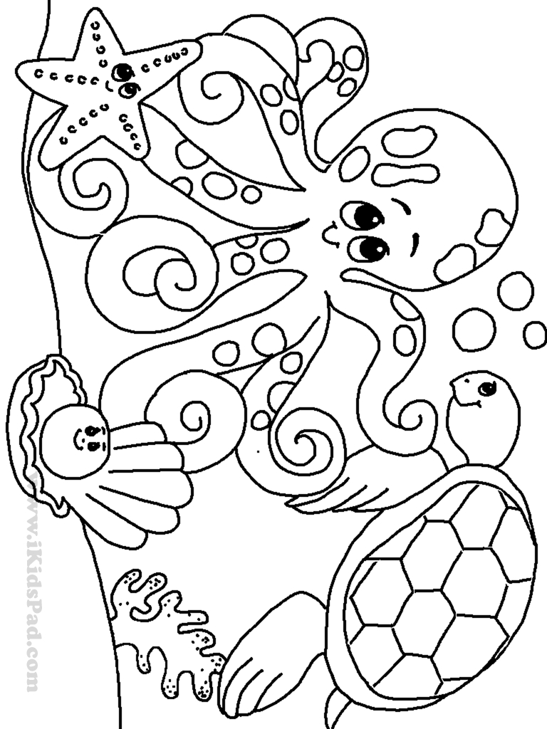 ocean animals coloring pages - ocean animals coloring pages preschool