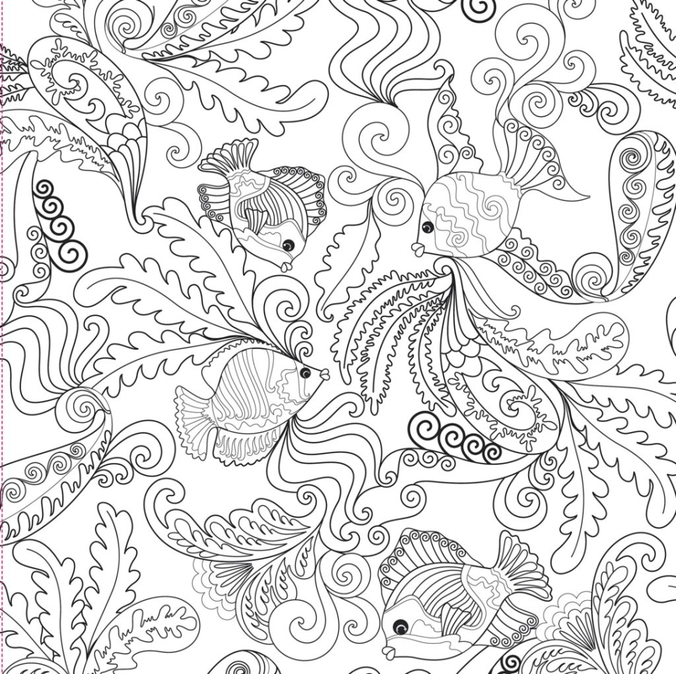 ocean coloring pages for adults - online adults printable of summer coloring sheets