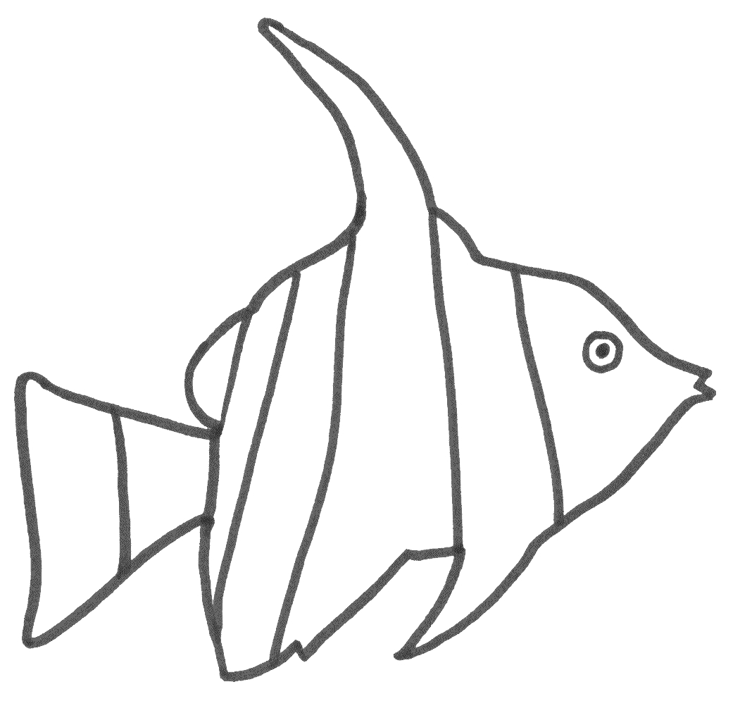 ocean coloring pages - colour in fish designs