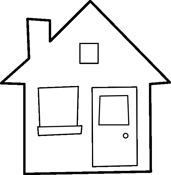 october coloring pages - colorare casa