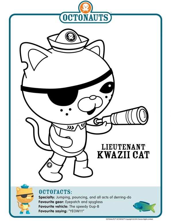 Octonauts Coloring Pages - Octonauts Character Coloring Pages