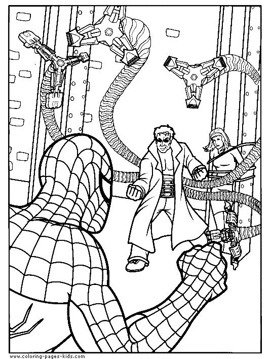 octopus coloring page - doc ock coloring pages