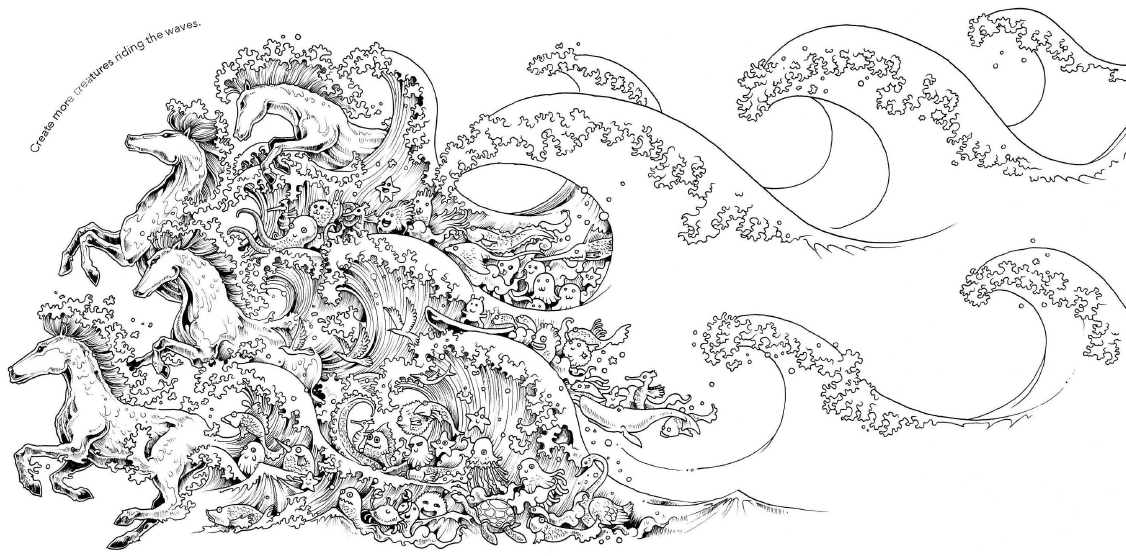 octopus coloring page - illustrator kerby rosanes on the art of doodling