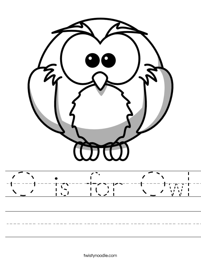 octopus coloring page - o is for owl 5 worksheet