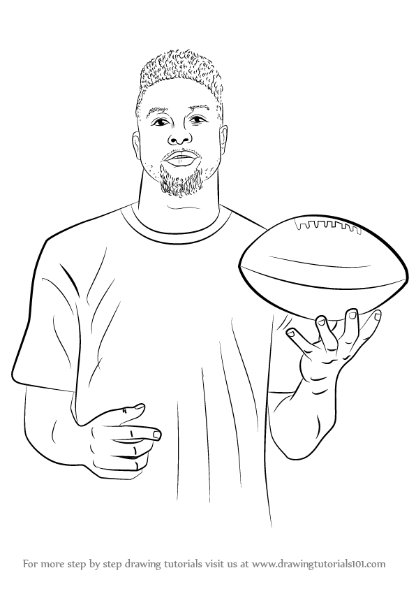 Odell Beckham Jr Coloring Page - Odell Beckham Jr Coloring Sheets to Print Coloring Pages