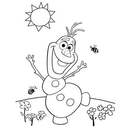 olaf coloring pages - 20 awesome things color fun kids