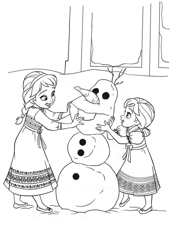 olaf coloring pages - q=eiskönigin