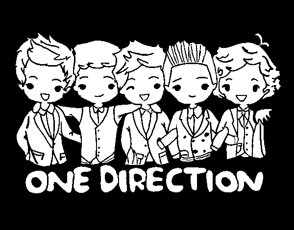 one direction coloring pages - one direction