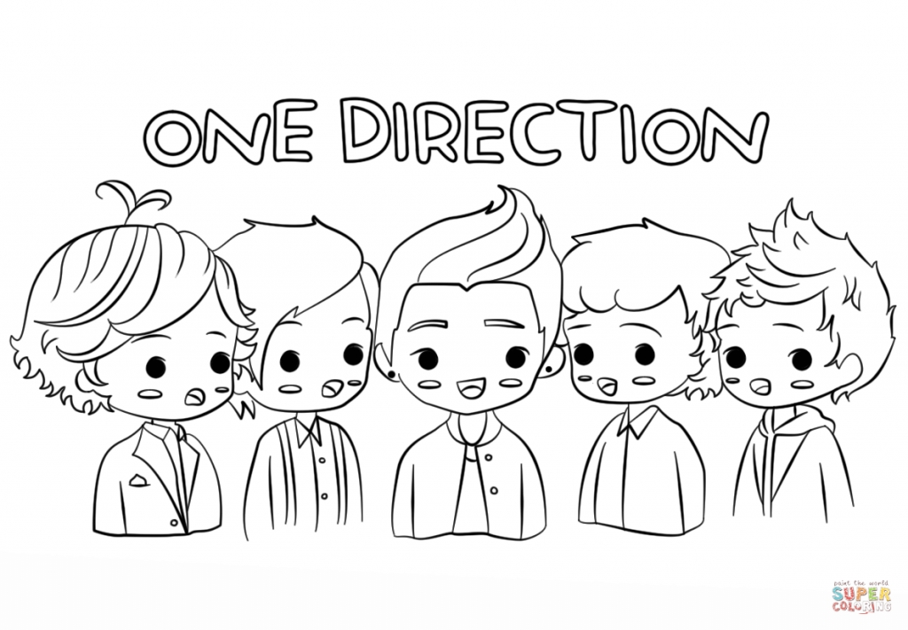 one direction coloring pages - one direction coloring pages cartoon