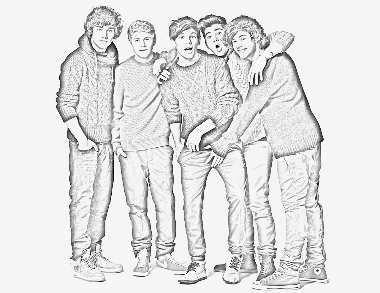one direction coloring pages - one direction s
