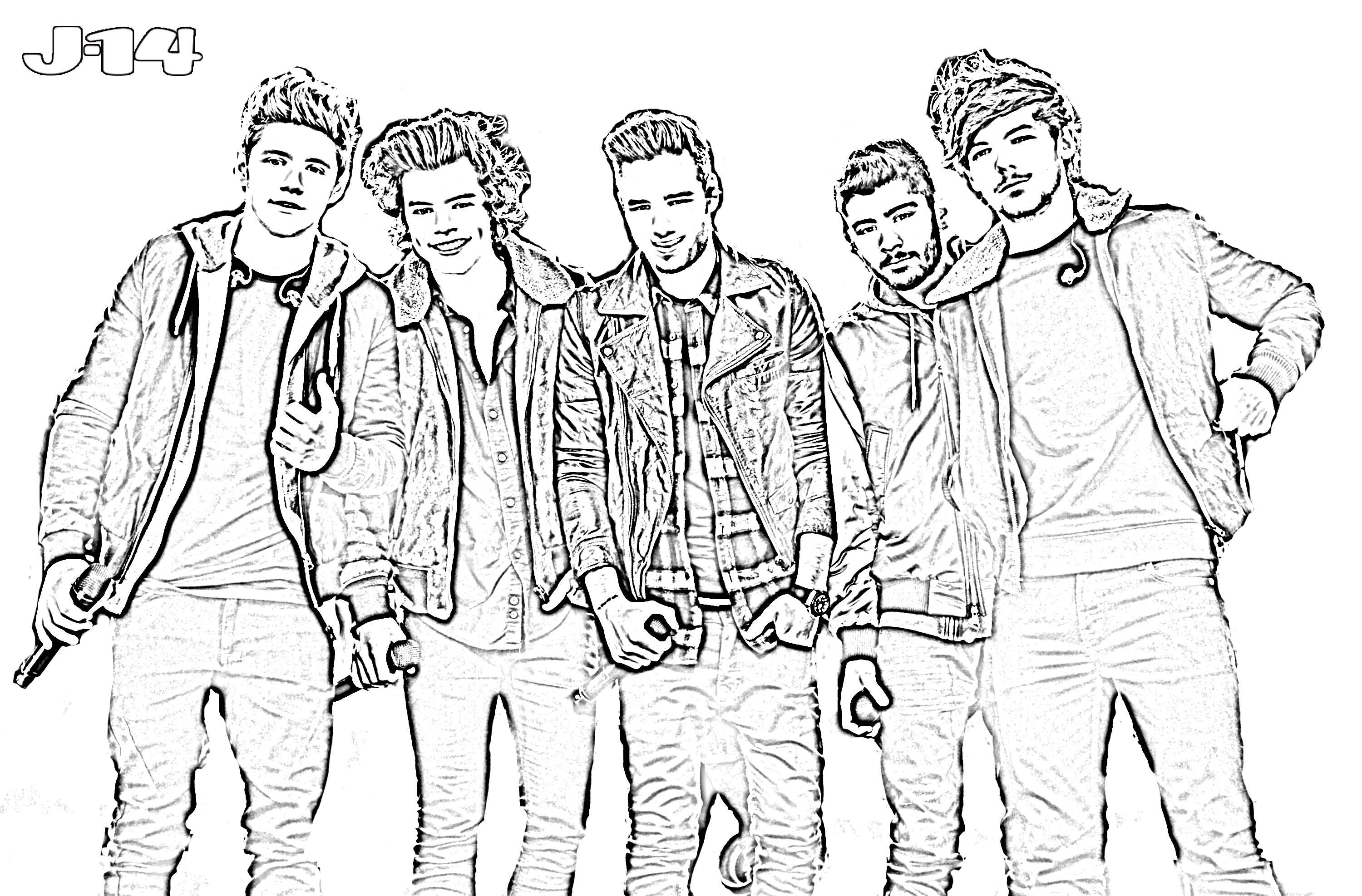 One Direction Coloring Pages - Free Coloring Pages Of One Direction