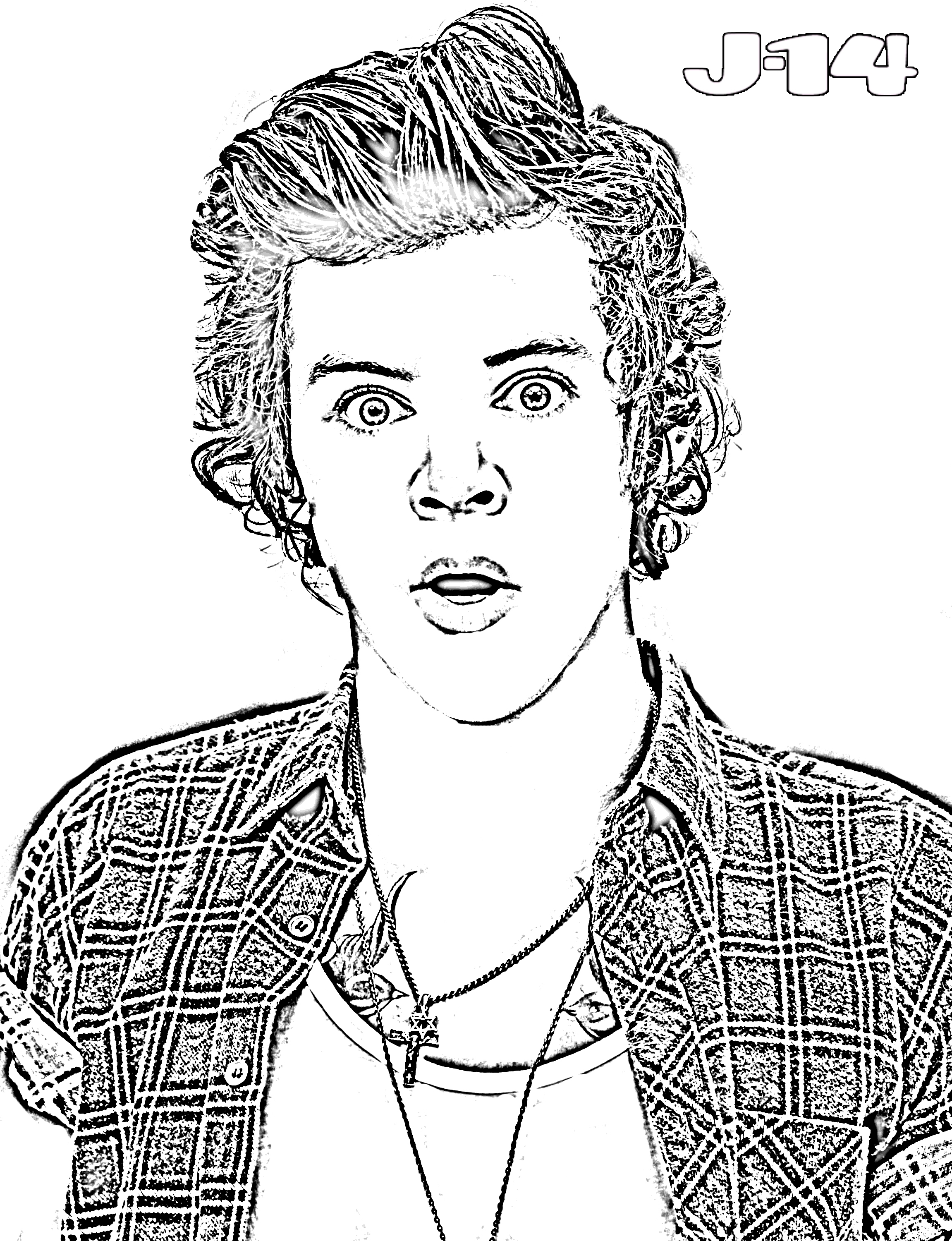 one direction coloring pages - harry styles coloring pages