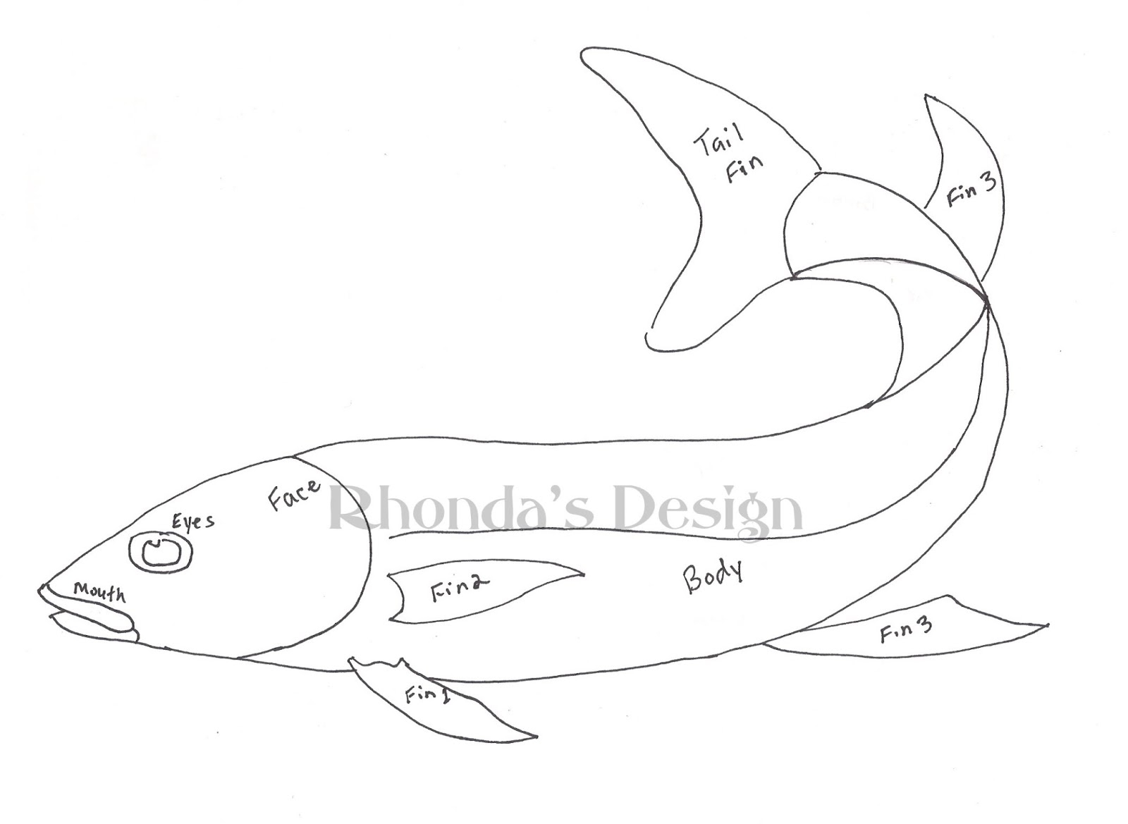 one fish two fish coloring page - one fish two fish coloring page